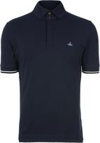 Vivienne Westwood Overlock Polo Shirt Navy size XS