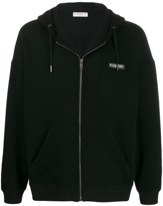 Givenchy Logo Patch Zipped Hoodie