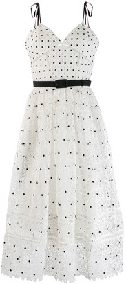 Self-Portrait Polka-Dot Midi Dress