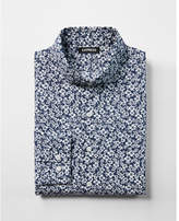 Express slim tropical floral dress shirt