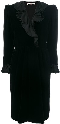 Yves Saint Laurent Pre-Owned Long-Sleeve Ruffle Dress
