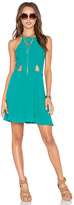 NBD x Naven Twins Sahara High Neck Halter Dress