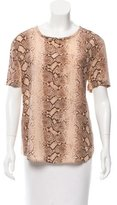 Equipment Snakeskin Print Silk Top