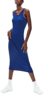 Lacoste Cotton Ribbed Sleeveless Dress