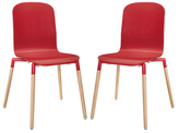 Modway Stack Wood Dining Chairs (Set of 2)
