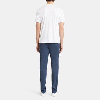 Theory Stripe Pocket Tee in Cotton