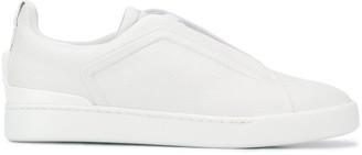 Ermenegildo Zegna logo print low-top sneakers