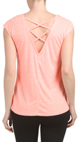 Strappy Back Aspire Tee