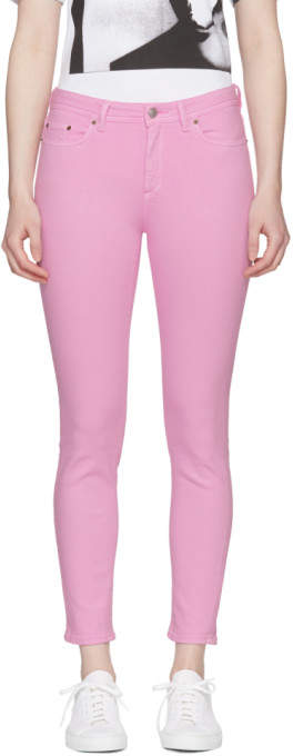 Acne Studios Bla Konst Pink Climb Jeans