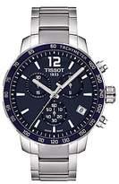 Tissot T0954171104700 Quickster Chronograph Date Bracelet Strap Watch, Silver/navy