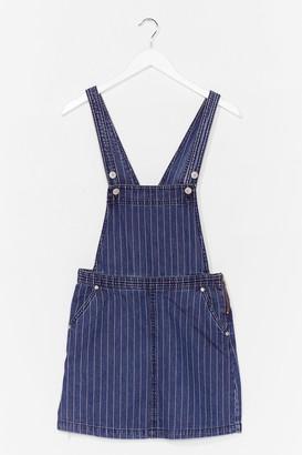Nasty Gal Womens Denim Dungaree Mini Dress - Blue