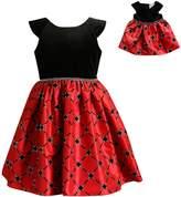 Dollie & Me Girls 4-14 Velour Plaid Dress Set