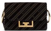 Givenchy Eden Chain-pattern Velvet Belt Bag - Womens - Black