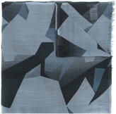 Closed geometric pattern scarf - men - Wool - One Size