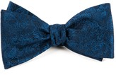 The Tie Bar Navy Ceremony Paisley Bow Tie
