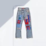 Tommy Hilfiger Flared Patched Jeans