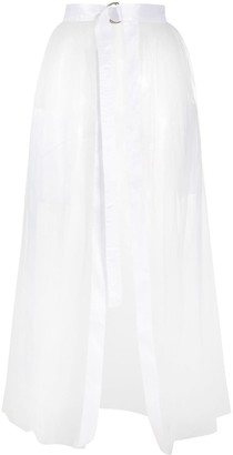 Loulou Sheer Apron Skirt