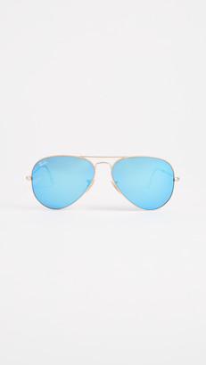 Ray-Ban RB3025 Classic Aviator Mirrored Matte Sunglasses