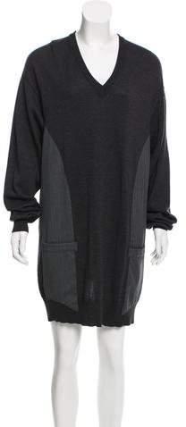 Maison Margiela V-Neck Sweater Dress