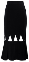 David Koma Cut-out crêpe skirt