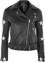Topshop Soul Faux Leather Biker Jacket