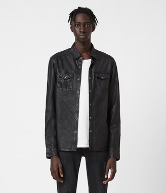 AllSaints Irwin Leather Shirt