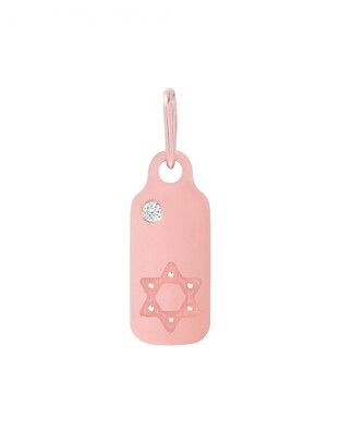 Mini Mini Jewels Icons - Star of David Diamond Dog Tag
