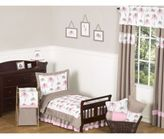 Sweet Jojo Designs Mod Elephant Toddler Bedding Collection in Pink/Taupe
