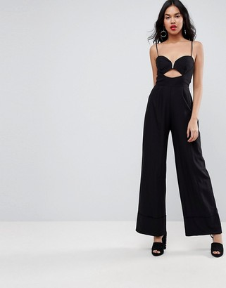 Asos Design Jumpsuit with Cut Out and Wide Leg