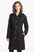 Vince Camuto Ponte Military Trench Coat with Detachable Hood