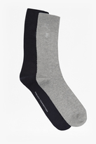 Huxley Textured 2 Pack Socks