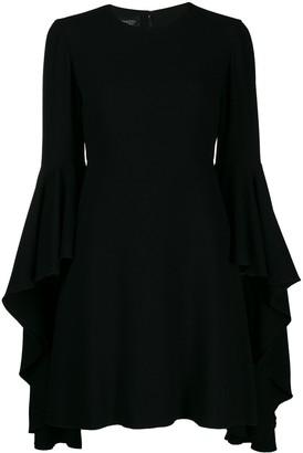 Giambattista Valli Deep Ruffle Sleeve Mini Dress