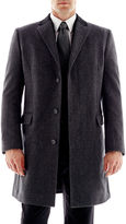 Claiborne Stafford Contrast-Collar Topcoat