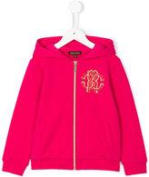Roberto Cavalli logo zipped hoodie