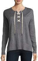 Splendid Lakewood Lace-Up Henley Sweater