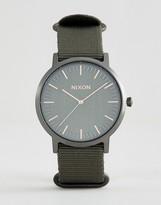 Nixon Porter Nylon Watch In Khaki
