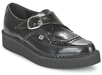 T.U.K. POINTED CREEPERS women's Casual Shoes in Black