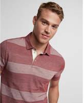 Express jacquard stripe jersey polo