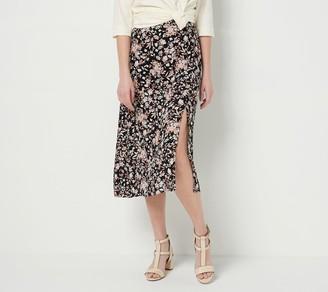 All Worthy Hunter McGrady Printed Pull-On Swing Skirt w/ Side Slit