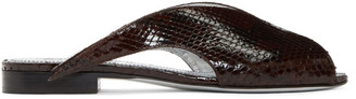 Givenchy Burgundy Python Flat Mules