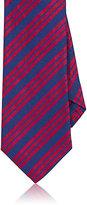Barneys New York Men's Striped Silk Necktie-BLUE