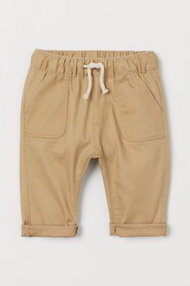 H&M Twill Pull-on Pants - Beige