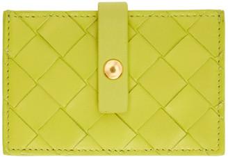 Bottega Veneta Green Intrecciato Concertina Card Holder