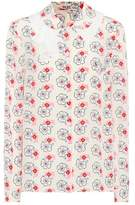 Miu Miu Floral silk blouse