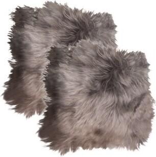 Rosdorf Park Icelandic Sheepskin Chair Pad Cushion Fabric: Gray