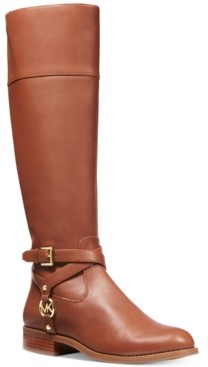 Michael Kors Michael Preston Leather Tall Riding Boots Women's Shoes