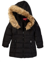 Catherine Malandrino Faux Fur Trimmed Jacket (Big Girls)