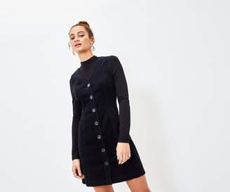 Oasis CORD BUTTON SHIFT DRESS