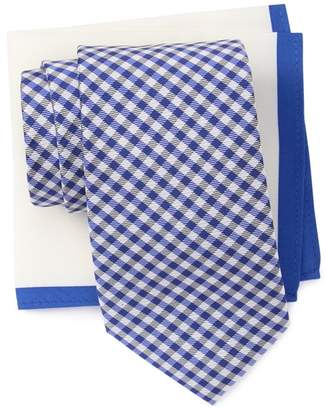 Tommy Hilfiger Dublin Gingham Tie & Solid Pocket Square