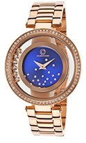 Cabochon Women's 'Joya' Quartz Stainless Steel Casual Watch (Model 80418-RG-03)
